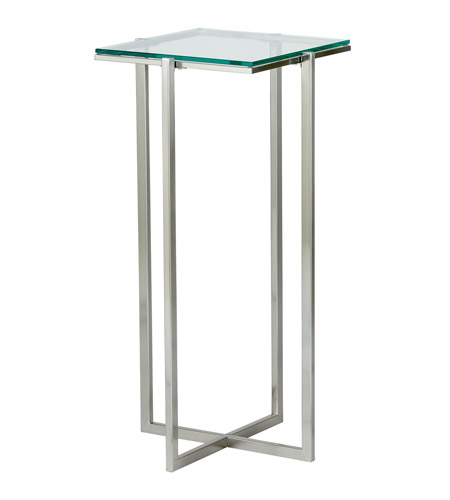 Adesso Glacier Tall Pedestal in Satin Steel HX1126-22 photo
