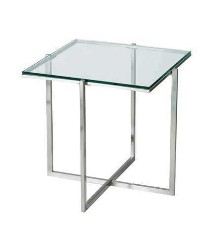 Adesso Glacier End Table in Satin Steel HX1127-22 photo