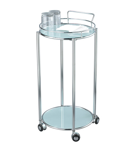 Adesso Cosmopolitan Bar Cart in Chrome/Frosted Glass HX4860-22 photo