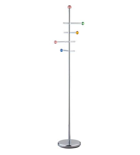 Adesso Marbles Coat Rack in Chrome/Multi HX4884-22 photo