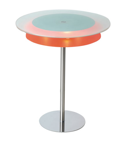 Adesso Blaze 3 Light Light Table in Chrome/Orange HX5043-22 photo