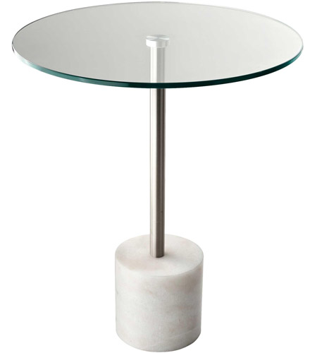 Adesso HX5282-02 Blythe 18 inch Steel and White Marble End Table Home Decor photo