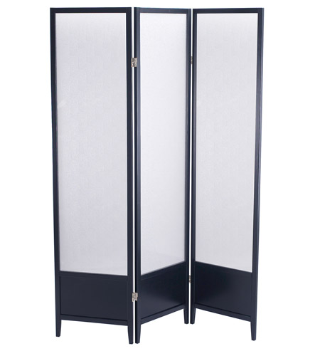 Adesso Toronto Folding Screen in Black WK2020-01 photo