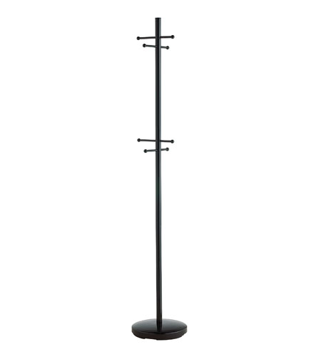 Adesso Signature Coat Rack in Shiny Black WK2050-01 photo