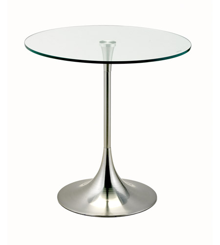 Adesso Coronet Accent Table in Satin Steel WK2134-22 photo