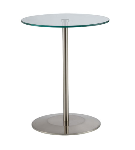 Adesso Orbit Accent Table in Satin Steel WK2140-22 photo