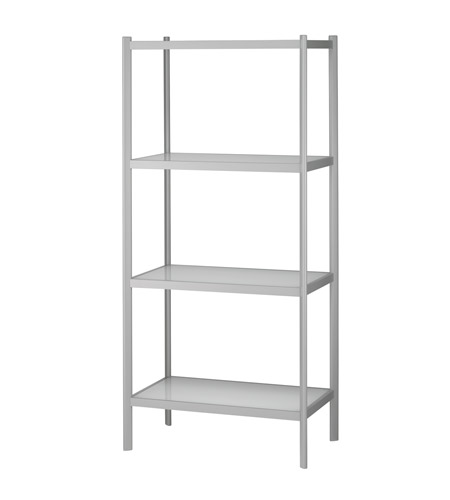 Adesso Aspen Four Tier Shelf Unit in White/Light Grey WK2314-02 photo