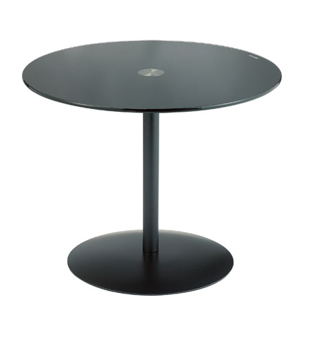 Adesso Bleecker Wide Accent Table in Black WK2321-01 photo