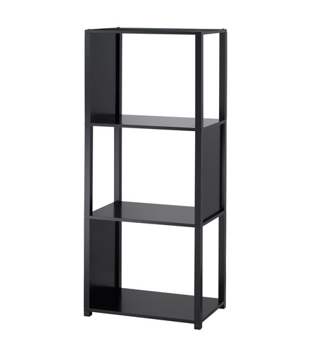 Adesso WK2324-01 Hyde 46 X 20 X 12 inch Black Shelf Unit photo