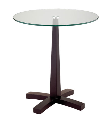 Adesso Perch End Table in Dark Walnut WK2330-15 photo
