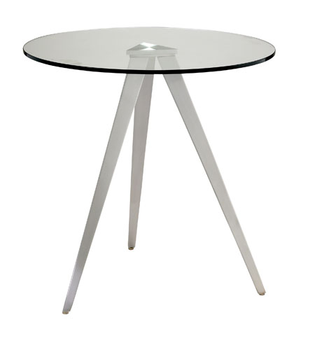 Adesso WK2335-22 Juneau 20 inch Satin Steel End Table photo