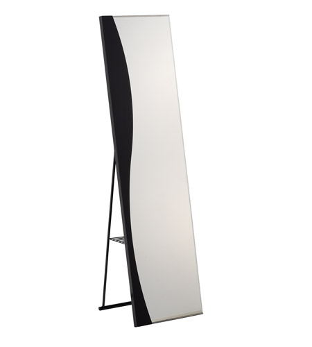 Adesso Wave Storage Mirror in Black WK2445-01 photo