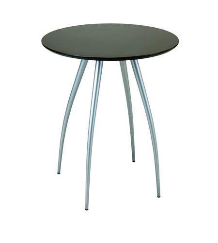 Adesso Cafe Bistro Table in Black/Steel WK2880-01 photo