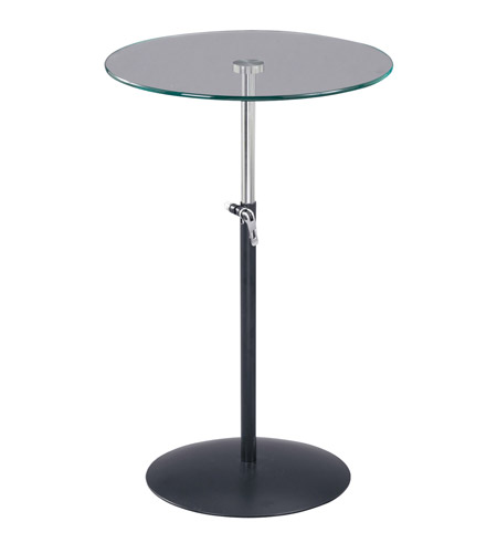 Adesso Soho Adjustable Table in Black/Steel WK2990-01 photo