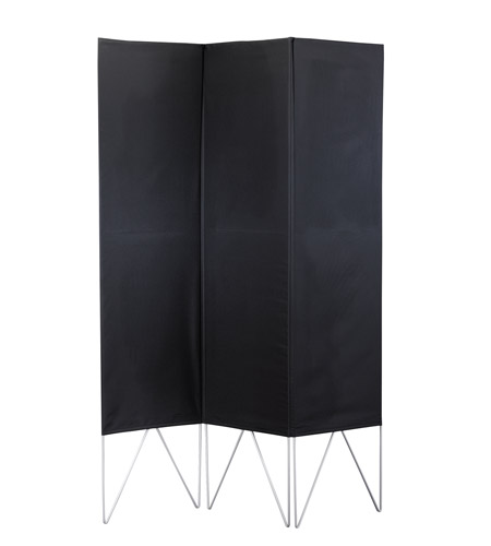 Adesso Vector Folding Screen in Black WK3800-01 photo