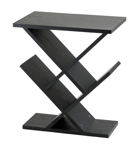 Adesso WK4614-01 Zig Zag 12 inch Black Accent Table photo