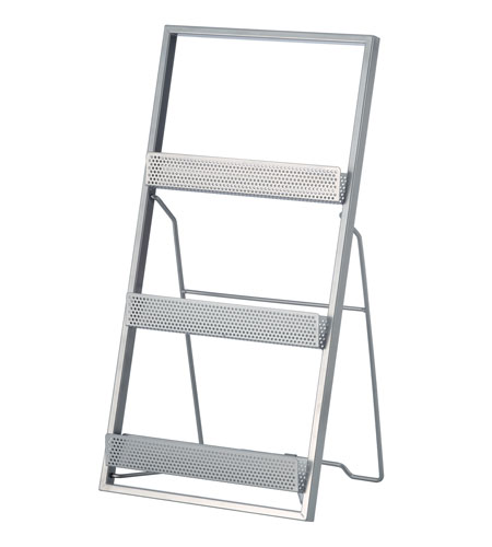 Adesso Editor Magazine Rack in Painted Steel WK7807-22 photo