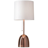 Lola 29 inch 150 watt Brushed Copper Table Lamp Portable Light