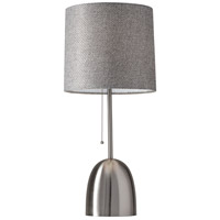 Lola 29 inch 150 watt Brushed Steel Table Lamp Portable Light