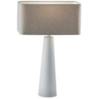 Adesso 1505-02 Lillian 26 inch 100 watt White Table Lamp Portable Light