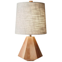 Grayson 25 inch 150 watt Natural Birch Wood Table Lamp Portable Light