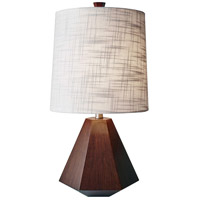 Grayson 25 inch 150 watt Walnut Birch Wood Table Lamp Portable Light