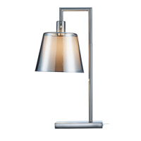 Prescott 23 inch 100 watt Satin Steel Table Lamp Portable Light