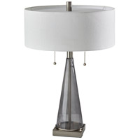 Adesso 1516-22 Laura 23 inch 60 watt Brushed Steel with Smoked Glass Table Lamp Portable Light