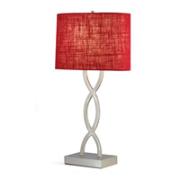 Adesso Juliette 1 Light Table Lamp in Red 1524-08