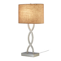 Adesso Juliette 1 Light Table Lamp in Burlap 1524-18