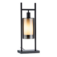 Adesso Revere 1 Light Table Lantern in Black 1526-01
