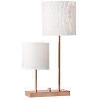 Aubrey 26 inch 60 watt Brushed Copper Table Lamp Portable Light