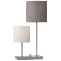 Aubrey 26 inch 60 watt Brushed Steel Table Lamp Portable Light