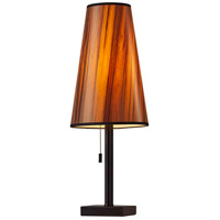 Adesso 1549-01 Ava 24 inch 100 watt Matte Black Table Lamp Portable Light