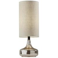 Adesso 1551-01 Cassandra 24 inch 60 watt Cracked Mercury Glass/Black Table Lamp Portable Light