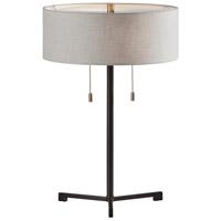 Adesso 1556-01 Wesley 22 inch 60 watt Black Table Lamp Portable Light
