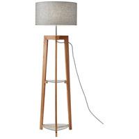 Adesso 3007-12 Henderson 60 inch 150 watt Natural Ash Wood Floor Lamp Portable Light