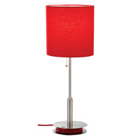 Adesso Bobbin 1 Light Table Lamp in Red 3022-08 photo thumbnail
