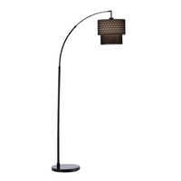 Gala 66 inch 150 watt Matte Black Arc Lamp Portable Light
