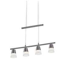Adesso Aerial 4 Light LED Pendant in Satin Steel 3090-22