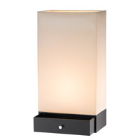 Adesso Parker 1 Light Table Lantern in Black 3135-01
