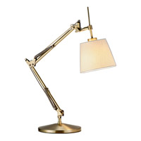 Adesso Architect 1 Light Table Lamp in Antique Brass 3155-21 photo thumbnail