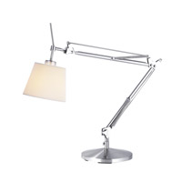 Adesso Architect 1 Light Table Lamp in Satin Steel 3155-22