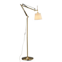 Adesso Architect 1 Light Floor Lamp in Antique Brass 3156-21