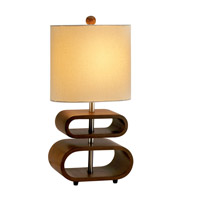 Rhythm 20 inch 60 watt Walnut Table Lamp Portable Light