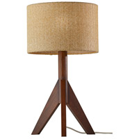 Adesso 3207-15 Eden 24 inch 100 watt Walnut Rubberwood Table Lamp Portable Light