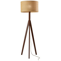 Adesso 3208-15 Eden 59 inch 150 watt Walnut Rubberwood Table Lamp Portable Light