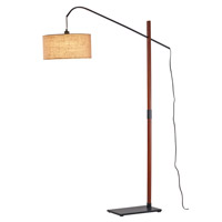 Adesso Bryce 1 Light Floor Lamp in Walnut 3225-15