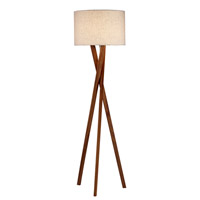 Adesso Brooklyn 1 Light Floor Lamp in Walnut 3227-15