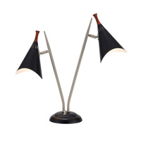 Adesso Draper 2 Light Desk Lamp in Black 3235-01